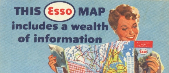 from The Merger Verger's collection of vintage road maps