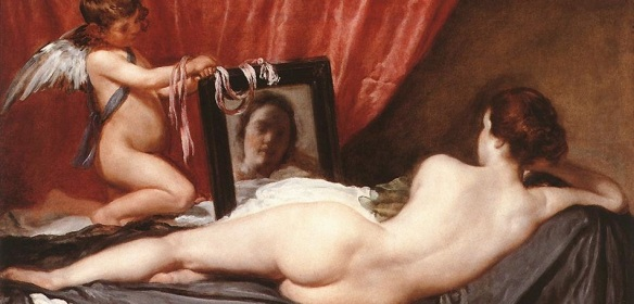 Venus at her Mirror (detail)