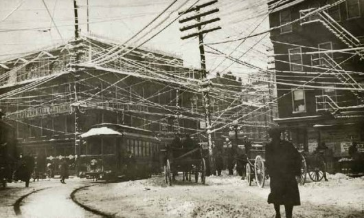 Telephone Wires NYC 1887