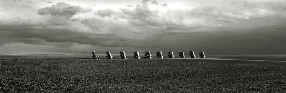 Cadillac Ranch BW